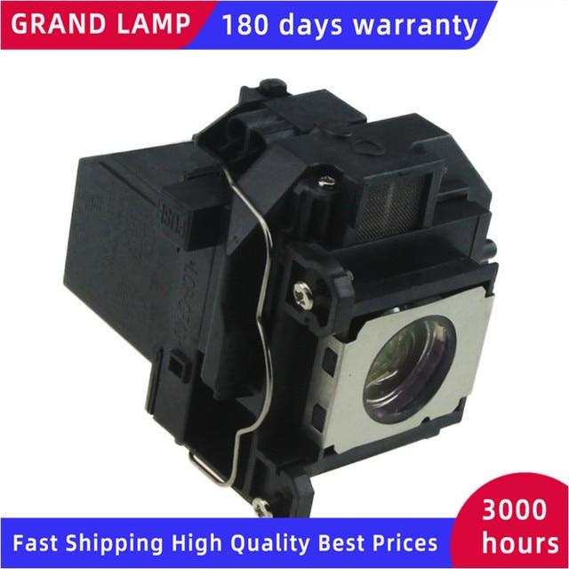 ELPLP57 Lámpara Compatible con carcasa para Epson EB 440W, EB 450W, EB 450WI, EB 455WI, proyectores GRAND