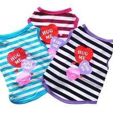 Hoomall футболка со щенком жилет боди для чихуахуа товары для домашних животных летняя собачья одежда в полоску Одежда для маленьких собак мягкий хлопковый котенок