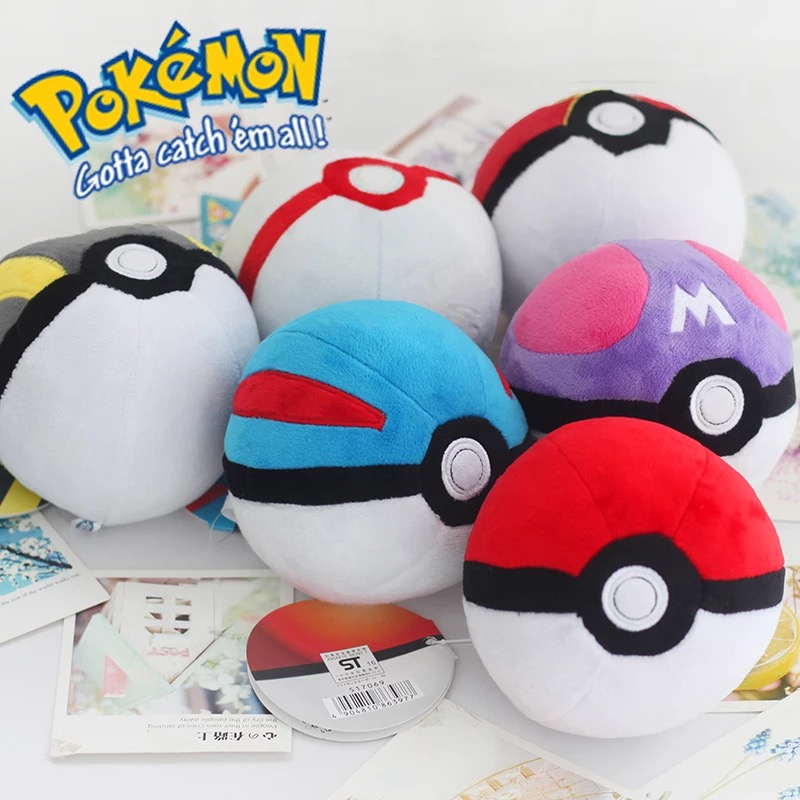 Pokemon Animals Poke Ball Cute Pikachu Balll Plush Plush Dolls Pokemon Action Figures Pendant Stuffed Doll Toys Kids