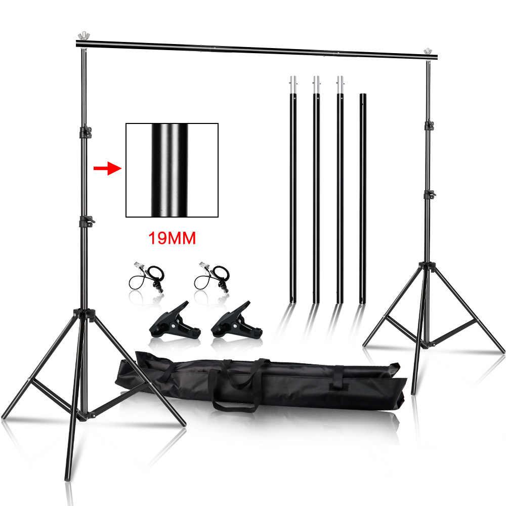 Para estudio de vídeo y fotografía telón de fondo soporte muselina para fotografía fondos cuadro de lona sistema de soporte con bolsa de transporte