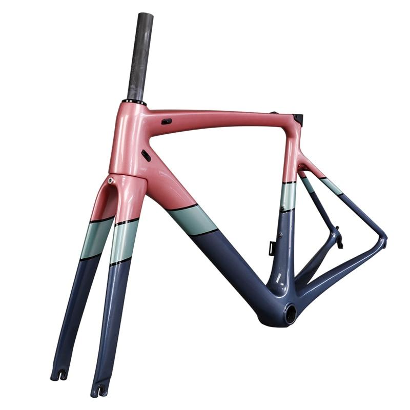 2019 New Model V Brake Carbon Bicycle Frame Inner Routing BB86 700C Road Frame