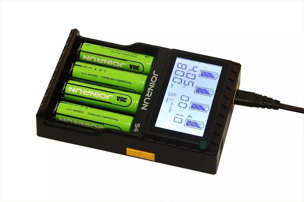 S4 LCD Battery Charger DC12V 2A Output 4.35 V 4.2 V 3.6 V charger for 18650 26650 17650 14650 12650 AA AAA Li-ion NiMH Li-FePO4