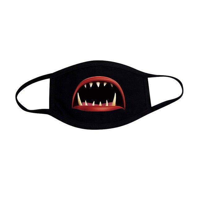 KPOP Unisex Funny Print Mouth Mask Women Outdoor Face Mask Winter warm Cotton Funny Facial Masks K-pop mondmasker wasbaar 5