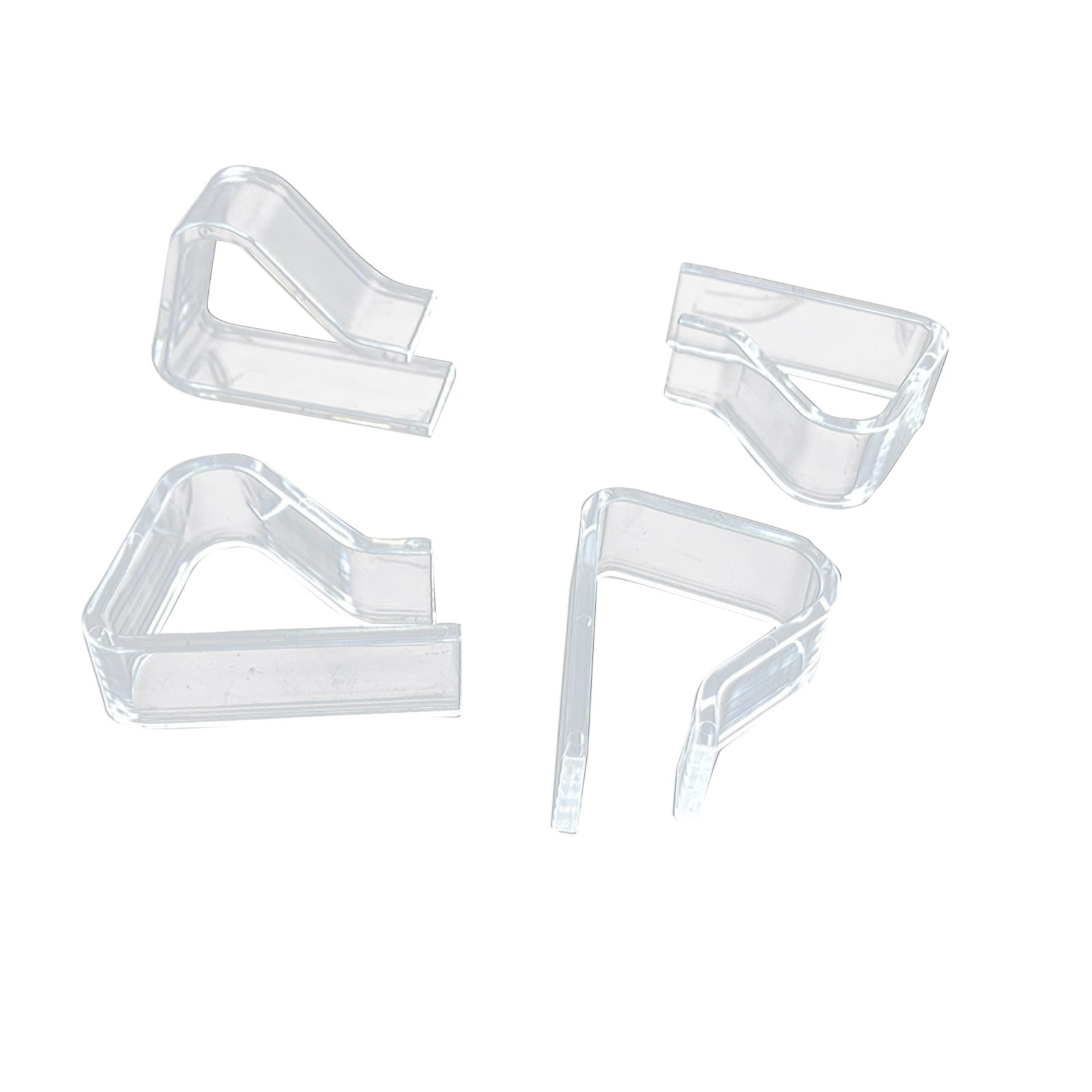 4 Transparent High-quality Plastic Tablecloth Clips Strong Fixing Function Cover Holder Clip Promenade Board Stable Clips#YL10
