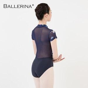 Image 2 - رداء رقص الباليه المرأة Dancewear المهنية التدريب yoga مثير الجمباز الرقمية الطباعة ثياب الرقص الأسماك الجمال 3524