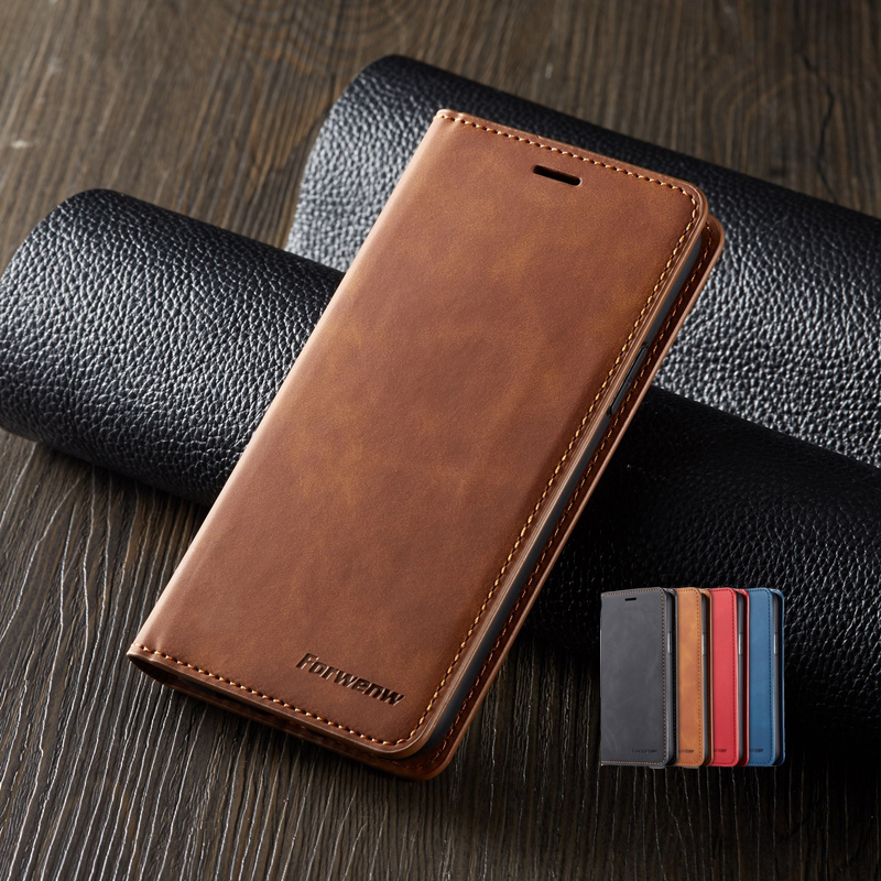 Luxury Phone Case for iphone XR 11 Pro XS Max X Case Card Wallet Cover for iphone 8 7 6 6s Plus 5S SE Leather Magnetic Flip Case image