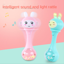 0-36M Baby Music Flashing Teether Rattle Toys Rabbit Hand Bells Mobile Infant Pacifier Weep Tear Newborn Early Educational Toys