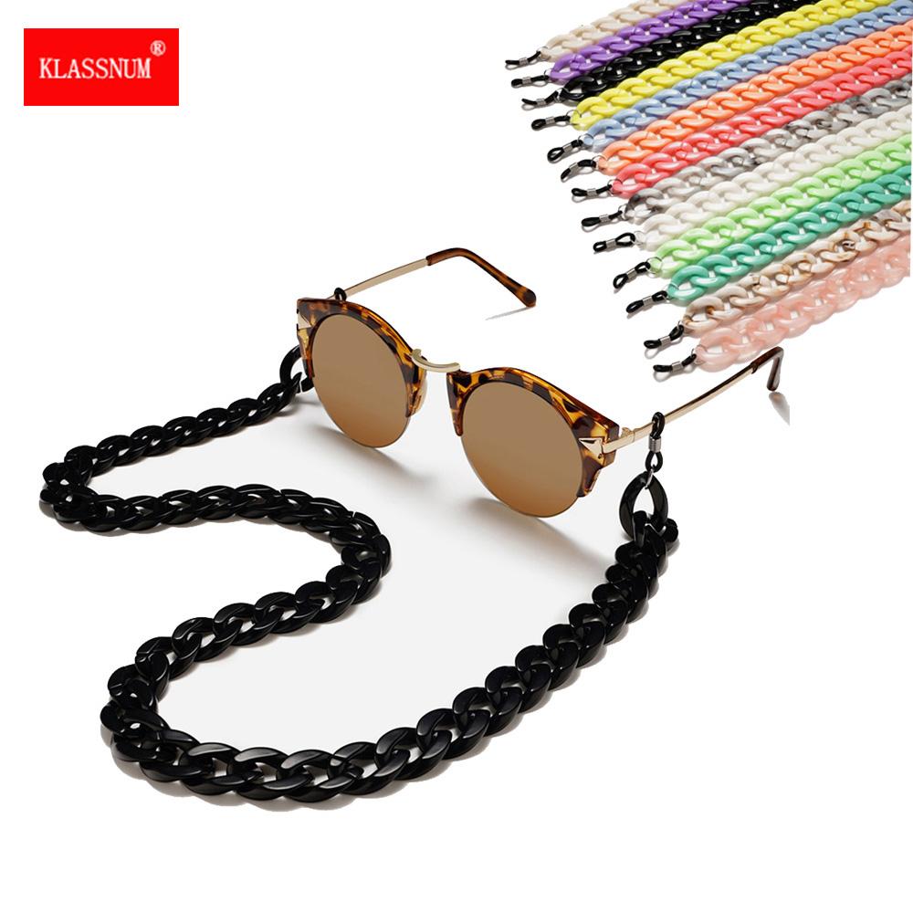 1PC New Leopard Acrylic Sunglasses Chain Women Reading Glasses Hanging Neck Largand Glasses Rope Wide Eyeglasses Strap Shotting