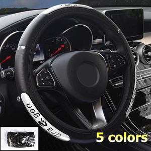Image 5 - Universal Cool Chinese Draak Ontwerp Auto Stuurwiel Covers Reflecterende Pu Lederen Stuurwiel Covers Busines Accessoires