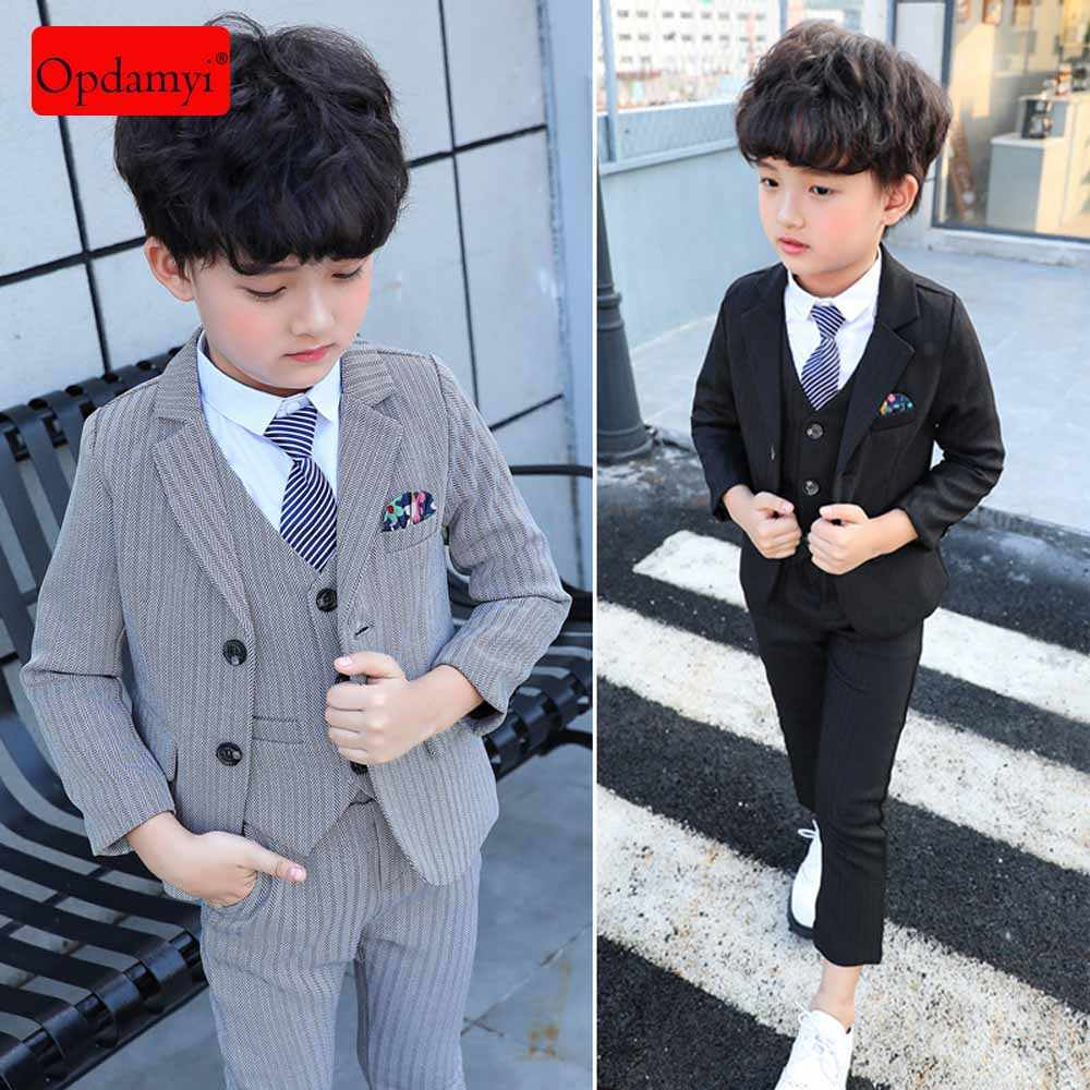 Kids Boys 3 Pieces Suit Set Leisure Sets with Shirt,Vest and Pant Clothes Sets
