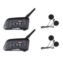 Fodsports 2 pcs V6 Pro Motorcycle helmet bluetooth headset Intercom 6 Riders Moto Waterproof BT Interphone