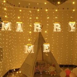 3D list światła LED światło nocne w języku angielskim Marquee znak alfabetu 3D ściany wiszące lampka nocna domu dekoracje ślubne w Oświetlenie wakacyjne od Lampy i oświetlenie na