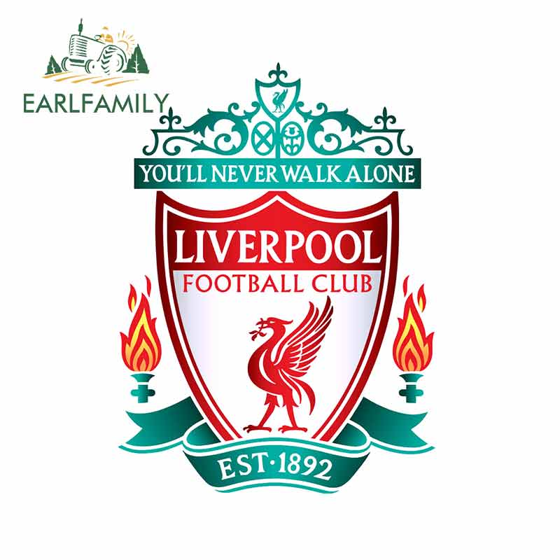EARLFAMILY 13cm X 9.5cm For Liverpool FC Soccer Car Truck Decal Bumper Window Vinyl Material Waterproof Personality Sticker