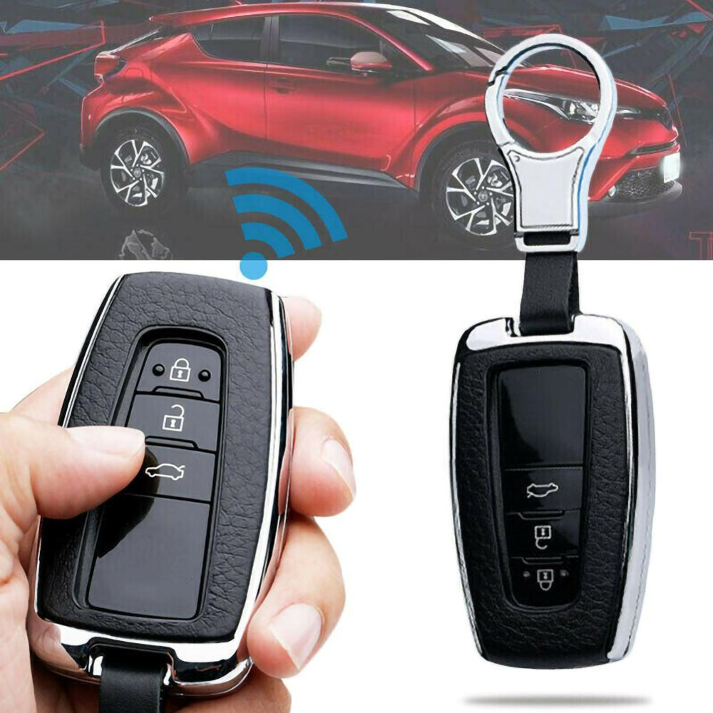 2019 New Durable For Toyota Camry CHR RAV4 Leatherette Car Key Case Cover W  Keychain Accessories Wholesale Quick delivery CSV