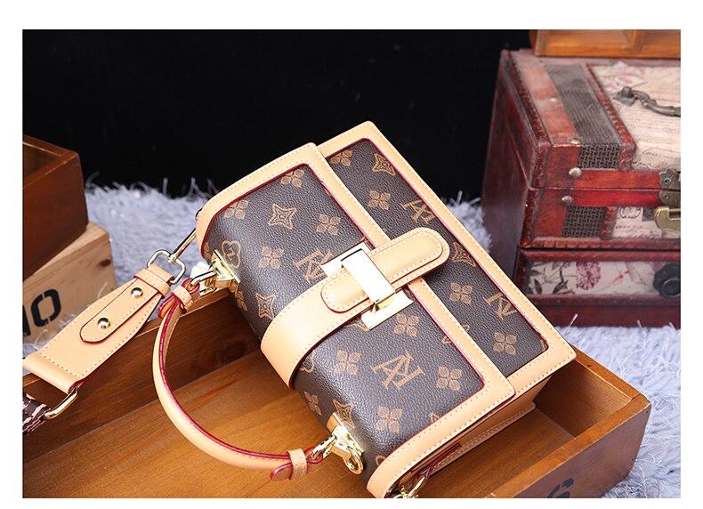 pequeno quadrado bolsa feminina do vintage e bolsa