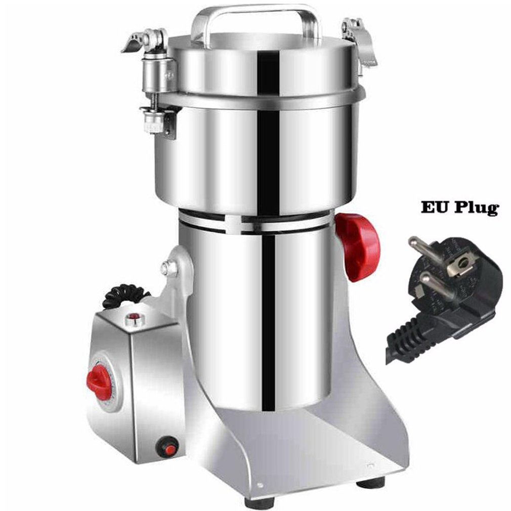 800A Grains Spices Hebals Cereals Coffee Dry Food Grinder Mill Grinding Machine Gristmill Home Medicine Flour Powder Crusher|Food Processors| |  - title=