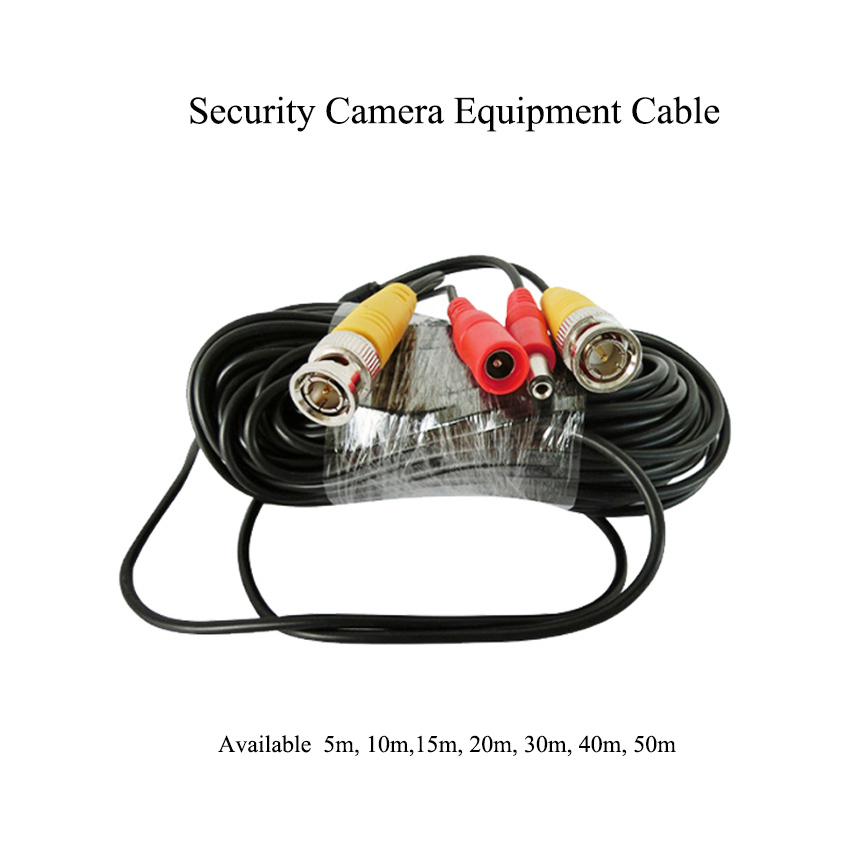 5/10/15/20/30/40/50m BNC+DC Connector Video Power Cable Security Monitoring Camera Equipment Cable VCR Camera Extension Cable