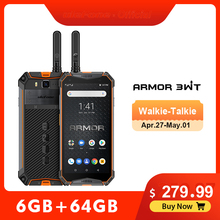Ulefone Armor 3WT Walkie-Talkie Rugged Mobile Phone 2.4G/5G WiFi Android 9.0 6GB
