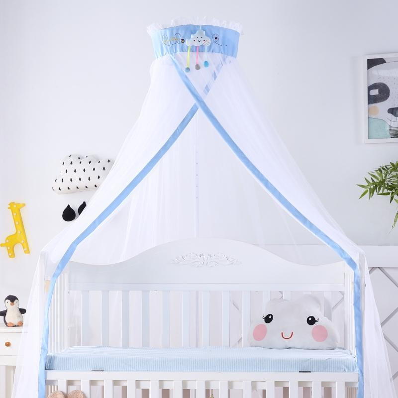 Princess Style Bed Baby Mosquito Net Cover Hung Dome Newborn Infant Crib Mosquito Netting With Floor Stand Canopy Tents 8 Colors