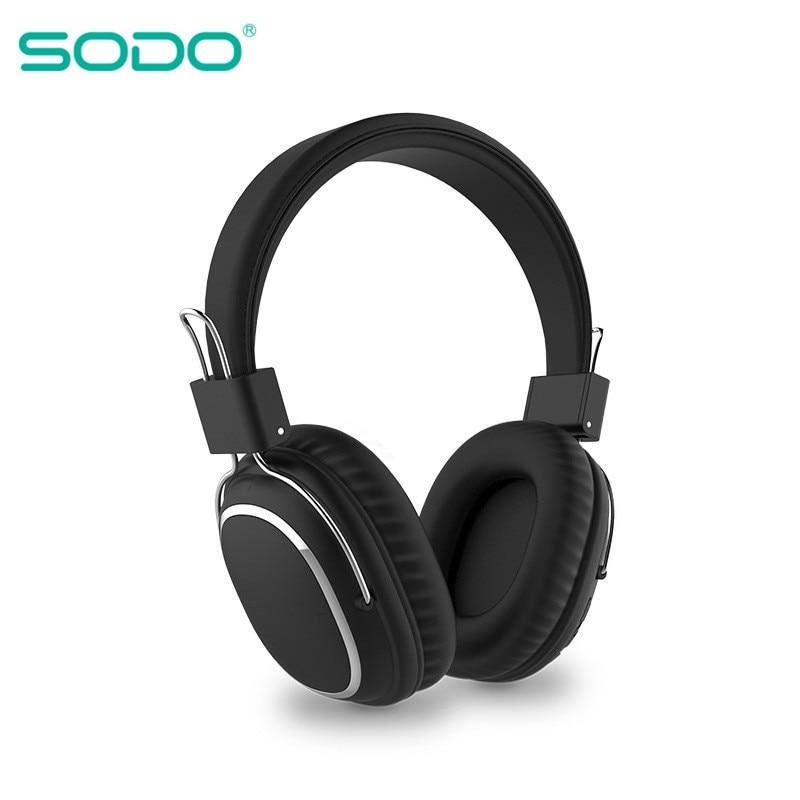 Накладные Bluetooth-наушники SODO 1004, складные беспроводные наушники с микрофоном и поддержкой TF-карты