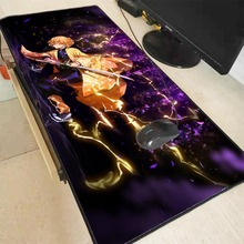 MRGBEST Anime Demon Slayer Kimetsu No Yaiba Csgo Gaming Large Mouse Pad Computer Mousepad XXL Lock Edge Pc Keyboard Desk Mat