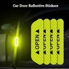 Автомобильные наклейки для открытой двери Предупреждение ющий знак, светоотражающая лента, знак безопасности, светоотражающий светильник, отражатели, автомобильные аксессуары