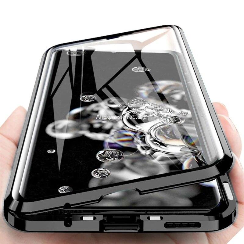 Магнитный металлический чехол для телефона Huawei Mate 40 30 20 P40 P30 P20 Pro Honor 30s 30 20 20i X10 9X 8X Nova 7 SE