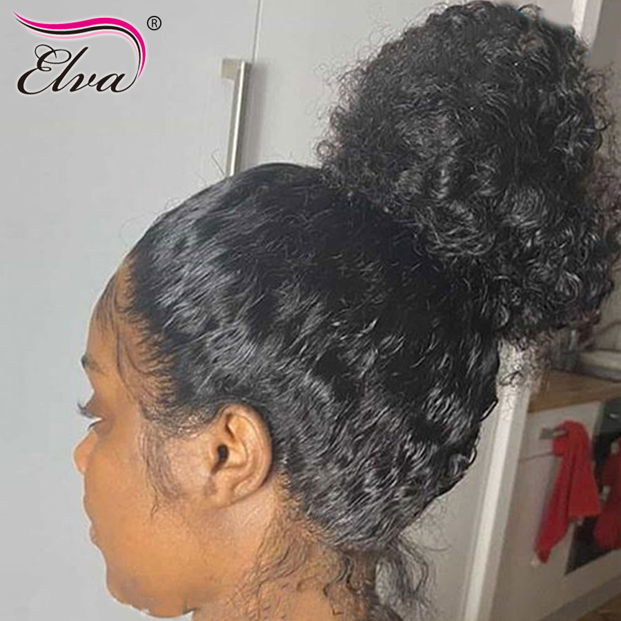 Elva Lace Front Human Hair Wigs Pre Plucked Human Hair Lace Front Wigs For Black Women With Baby Hair Remy 13x6 Lace Frontal Wig