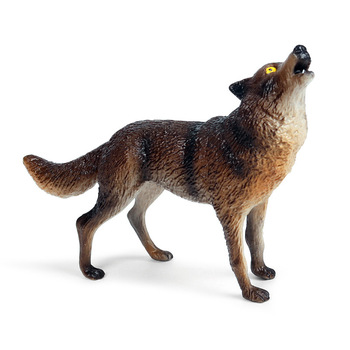 New Savage Wild Wolves Animals Model Action Figures Baby Gray Wolf Wolfhound PVC High Quality Education Kid Cognition Toys Gifts image