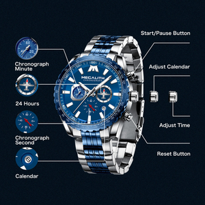 Image 5 - Relogio Masculino 2020 MEGALITH Sport Watch Men Aircraft Pointer Date Calendar Mens Watches Luxury Waterproof Quartz Watch Gents