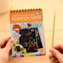 Children #8217 s Painting Doodle DIY Puzzle Toy Painting Book Sketchbook Kid Drawing Book Color Random tanie tanio Paper Drawing Toys Set 3 years old Unisex Don t touch the fire Paint Learning Notebook Coloring Notebook Drawing Board
