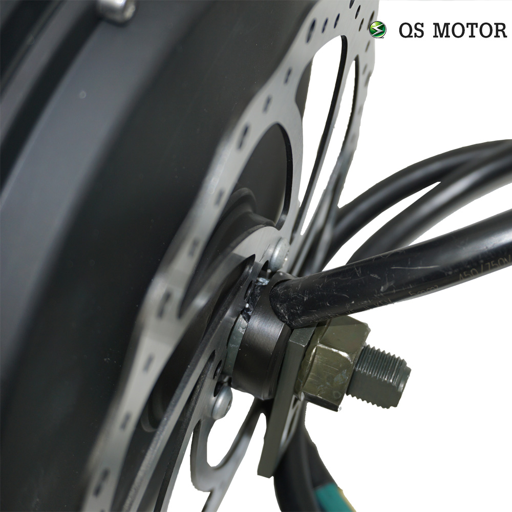 Купить с кэшбэком QS Motor Bicycle Spoke motor 3000W 205 (50H) V3 Type Hub Motor with SVMC72150 controller 72V 80-100km/h customize speed