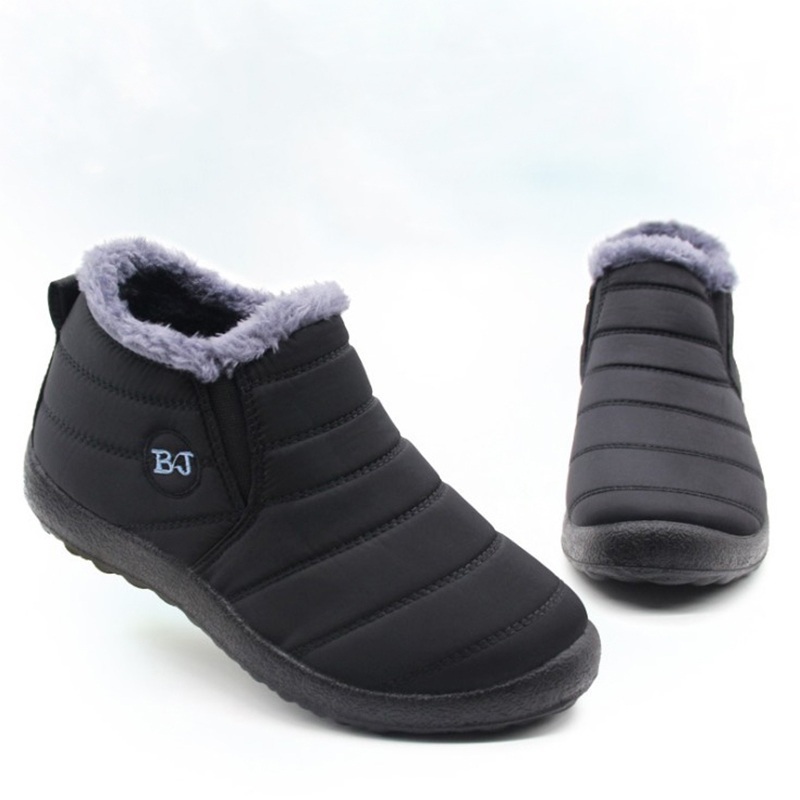 Men Boots Lightweight Winter Shoes For Men Snow Boots Waterproof Winter Footwear Plus Size 46 Slip On Unisex Ankle Winter Boots
