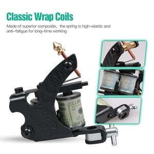 Image 3 - Beginner Complete Tattoo Kit Supplies 2 Machine Guns Power supply Needles Grip Tip Set HW 10GD