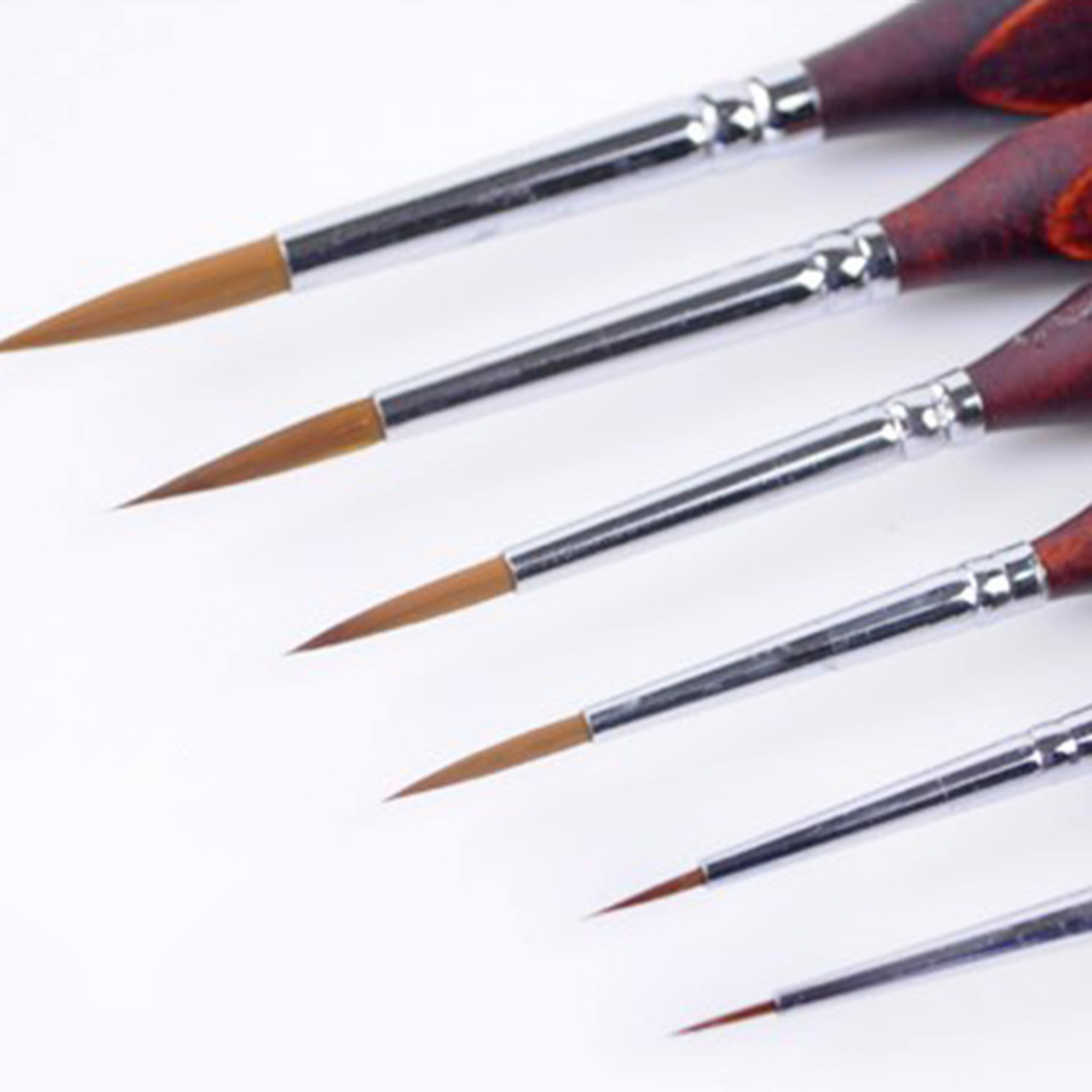 6Pcs Miniature Paint Brushes Set For Fine Detailing And Rock Painting Models Paint By Numbers Supplies Model Building Tool Sets
