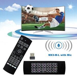 Image 3 - Controle remoto de voz mx3 MX3 L air mouse, 2.4g sem fios, teclado para x96 mini km9 a95x caixa de tv android h96 max