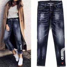 DSENQI New WOMen Jeans Ripped for woMen Skinny DSQ Jeans Pants woMens Jeans Outwear Pants
