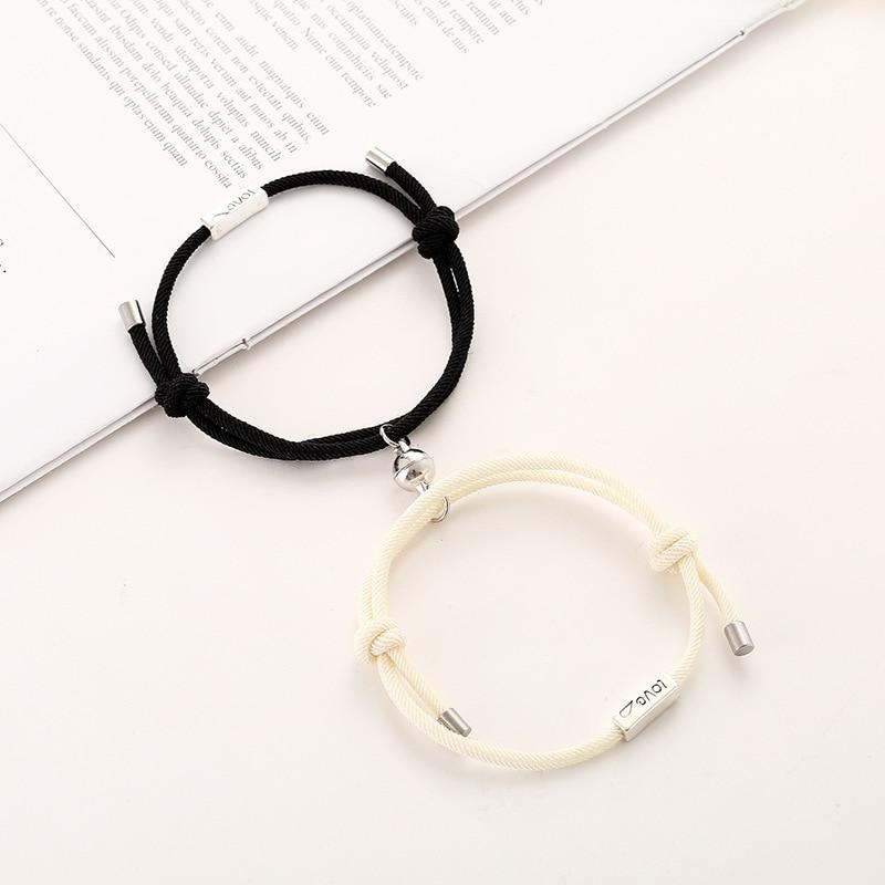 Magnetische Partner Armbänder aus Stoff
