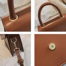 Ladies Vintage Shoulder Bag 2019 Fashion Casual Mini Square Bag Tote Handbag Brand Leather Crossbody Bag Bolsas Feminina #T2