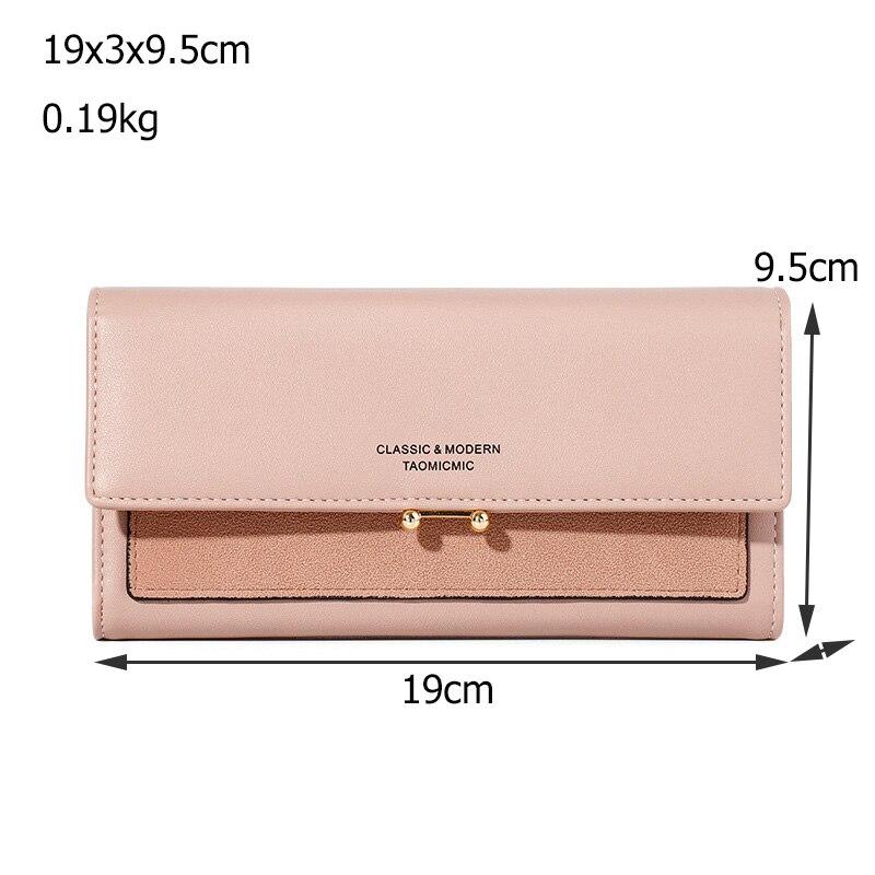 Купить с кэшбэком High Quality Rfid Long Zipper Wallet Womens Luxury PU Leather Card Wallets for Women 2020 Fashion Brand Female Money Purse Bags