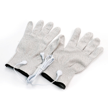 1 Pair Breathable Fiber Electrotherapy Massager Electrode Gloves With Cable Massage Electro Gloves for Electrode Therapy Machine