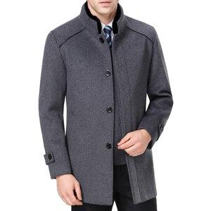 Image 3 - Mu Yuan Yang Verdicken Lange Herren Woll Mantel 50% Off Männer Wolle Jacke Winter Casual Warme Kaschmir Kleidung Plus größe 5XL 6XL