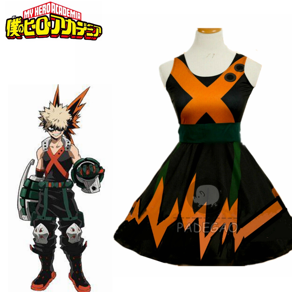 My Hero Boku No Hero Academia Katsuki Bakugo Dress Cosplay Costume Custom Made