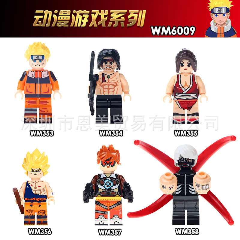 Single Model Building Blocks Action Figures Superheroes Dragon Ball Z Goku John Rambo Classic House Party Toys For Children Gift