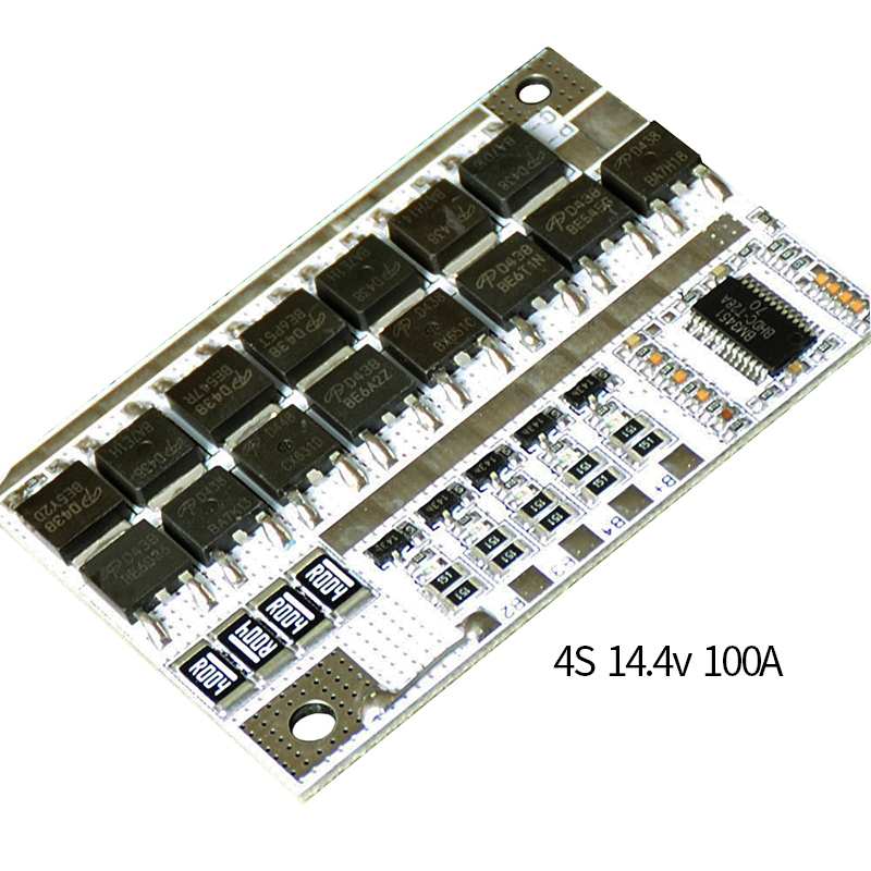 BMS 4S 14.4V 100A 18650 Li-ion LiFePO4 LiFe LMO Lithium Battery Charge Protection Circuit Board PCB BMS Charging Balance Module