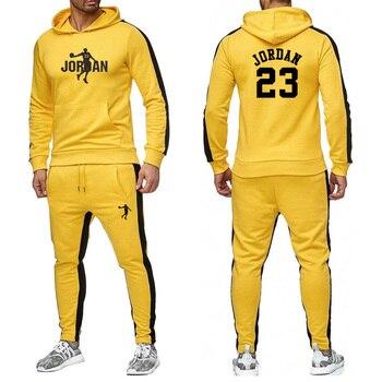 Jersey nuevo de manga larga para hombre, traje de primavera, verano, otoño e invierno, gorro de cuello redondo 2020 para hombre, traje deportivo estampado informal m-xxl