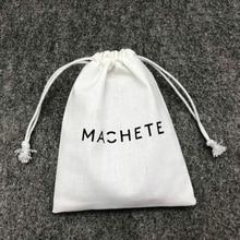 Keten pamuk jüt İpli çanta takı ambalaj makyaj düğün parti hediye paketi çantaları ambalaj malzemeleri baskı logosu 50