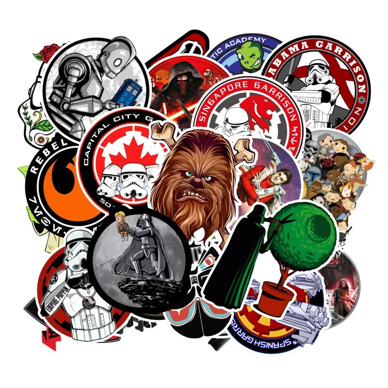 100 Kinds Star War Waterproof Fuel Cap Creative Sticker For Skateboard On Notebook Laptop Luggage Phone Styling Home Toy Sticker