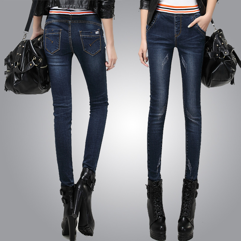 2020 High Waist New Thin Pencil Women Jeans Casual Wild Jeans High Quality