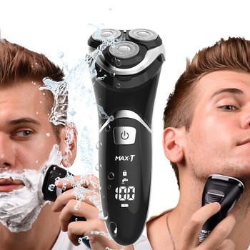 MAX-T RMS8101 Electric Shaver Face Care Washable USB Cable Rechargeable Triple Blade 3D Razors Electric Shaving Beard Machine цена 2017